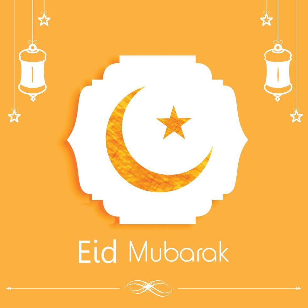 vecteur de conception de carte eid mubarak