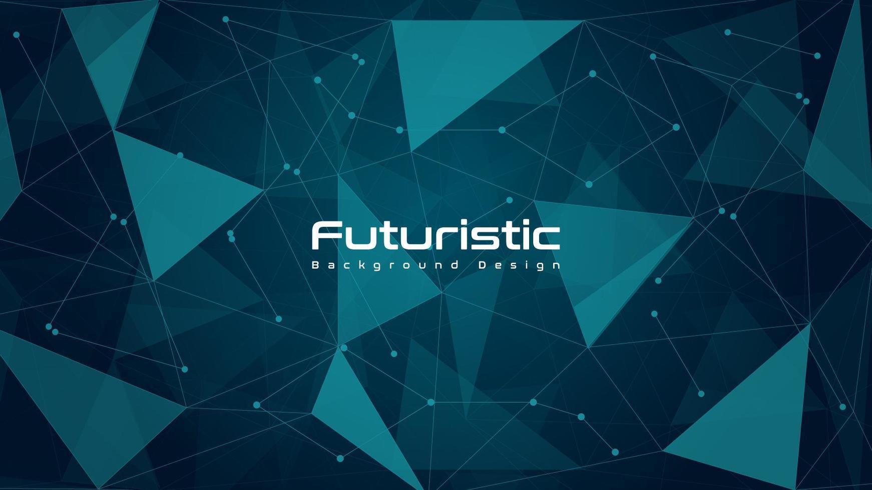 fond de technologie futuriste poly abstrait vecteur