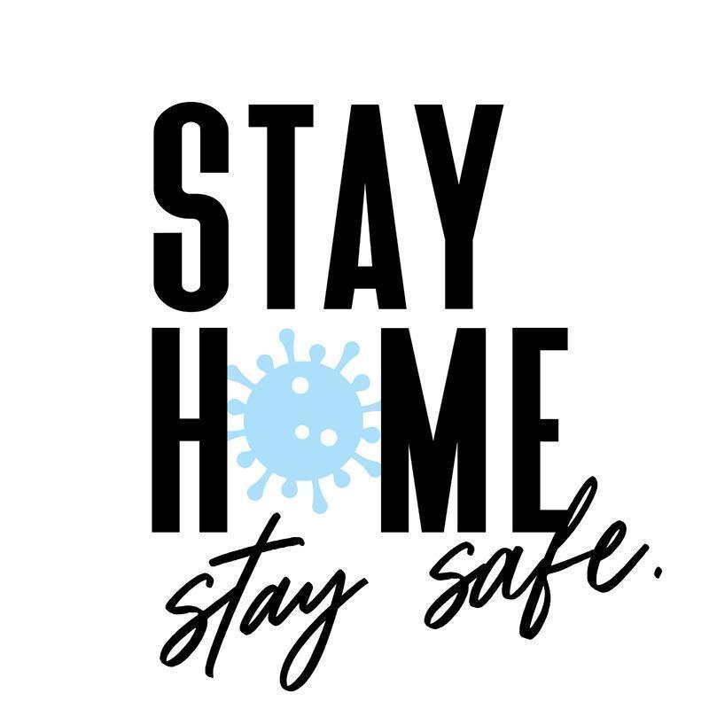 rester à la maison et rester en sécurité phrase de motivation covid-19 vecteur