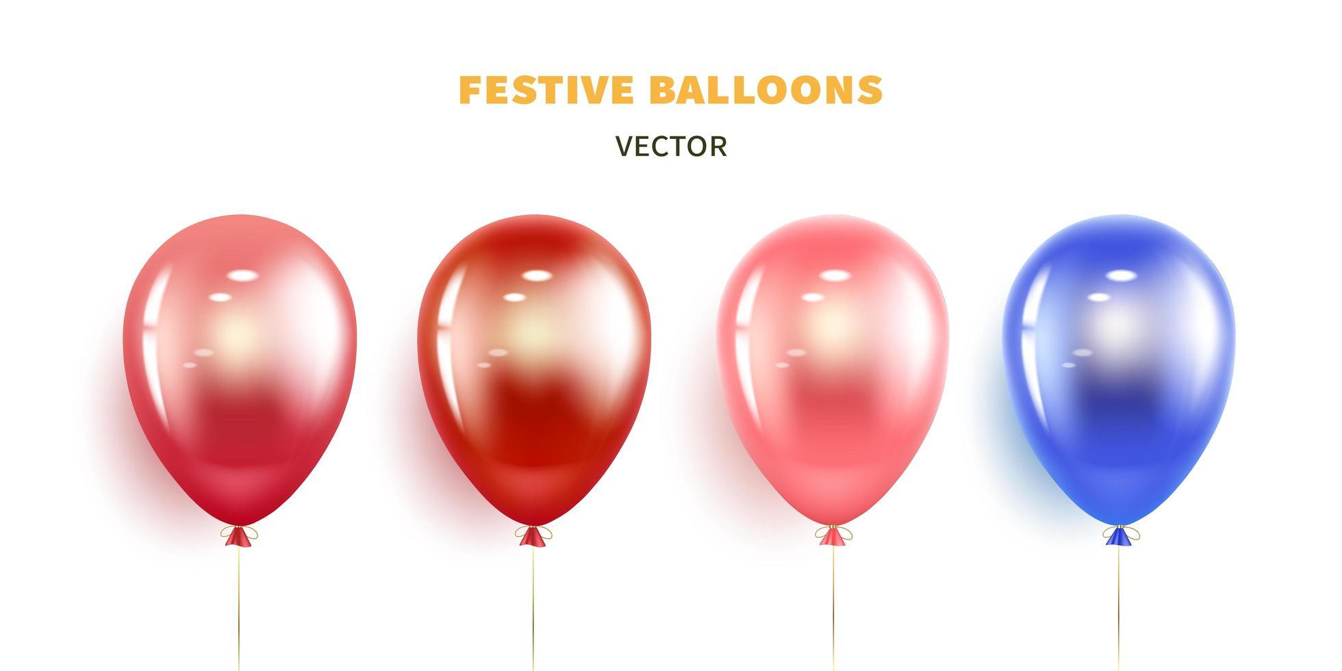 jeu de ballons de fête vecteur