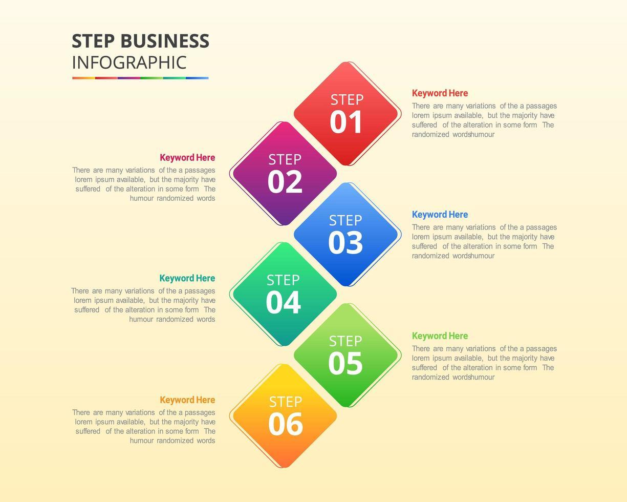 conception infographique d'entreprise en étapes ou options vecteur