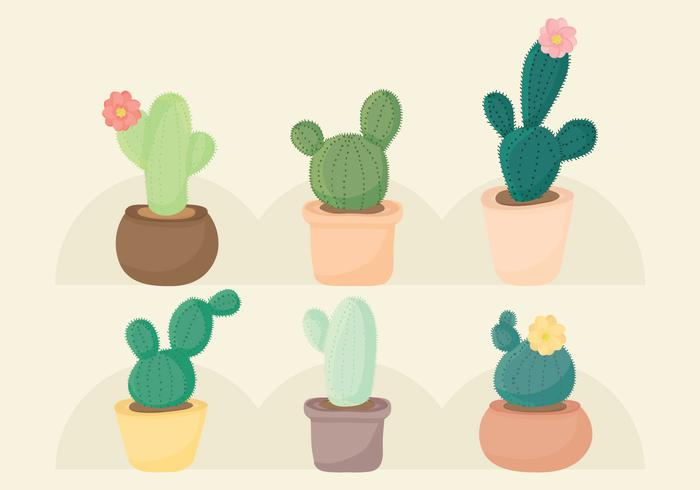 Ensemble de cactus vectoriel