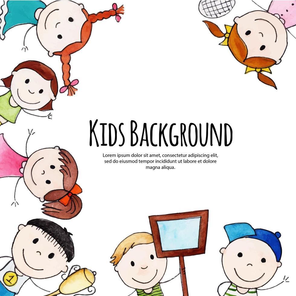 retour à l'école conception d'enfants heureux vecteur