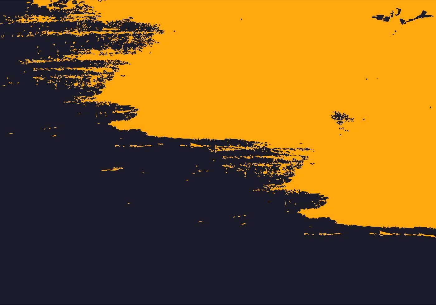 texture de peinture abstraite grunge jaune et marine vecteur