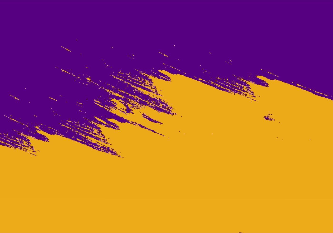 texture de trait grunge abstrait violet et orange vecteur