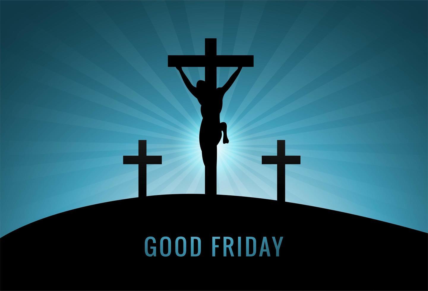 christ religieux de pâques sur fond de croix vecteur