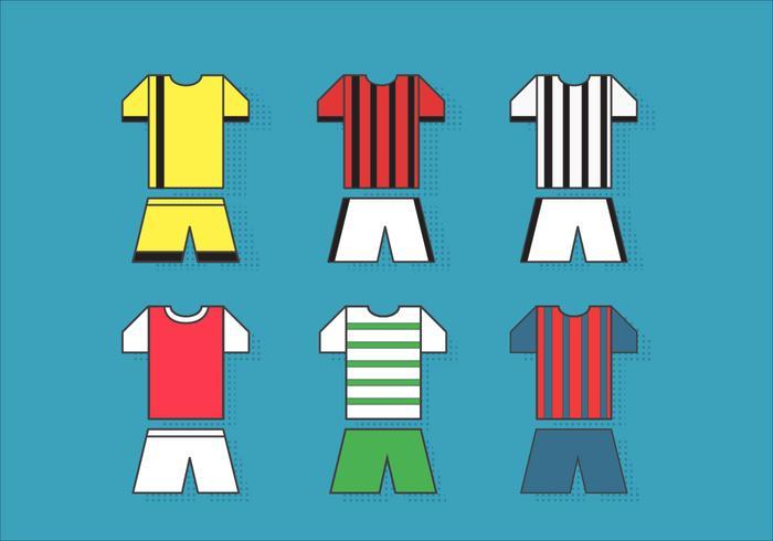 Kit de football sports jersey vecteurs vecteur