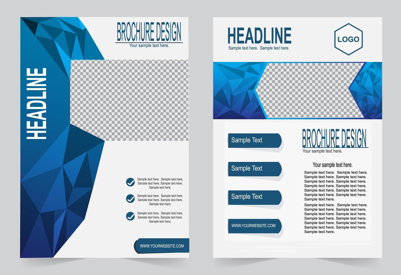 ensemble de couverture de polygone bleu vecteur