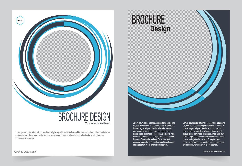 ensemble de couverture d'image cercle bleu vecteur