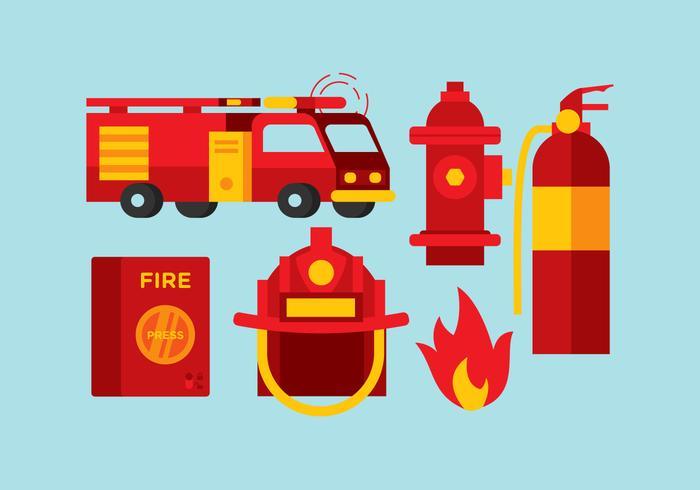 Outils de pompiers à vecteur
