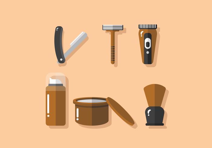 Outils de coiffeur vectoriel
