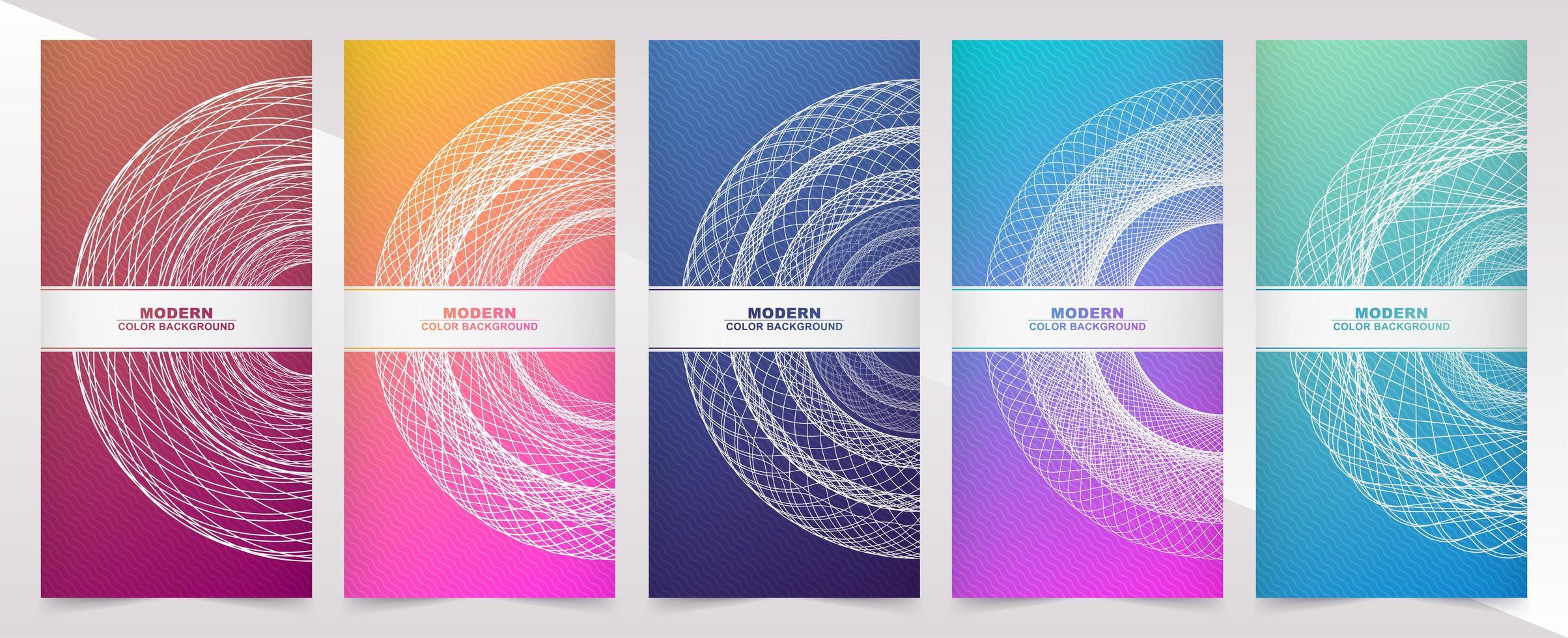 bannières verticales avec dégradé de couleur et conception de cercle vecteur