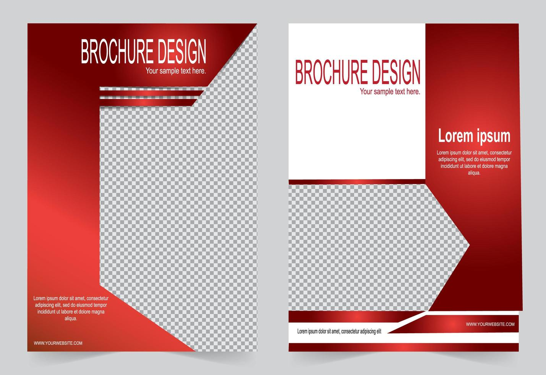 modèle de brochure rouge avec espace image vecteur