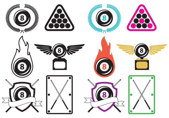 Vecteurs de logo de billard vecteur