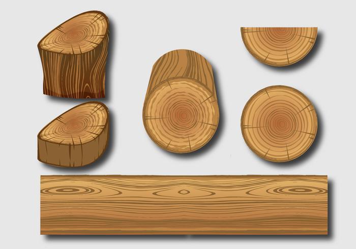 Vecteurs de bois vecteur