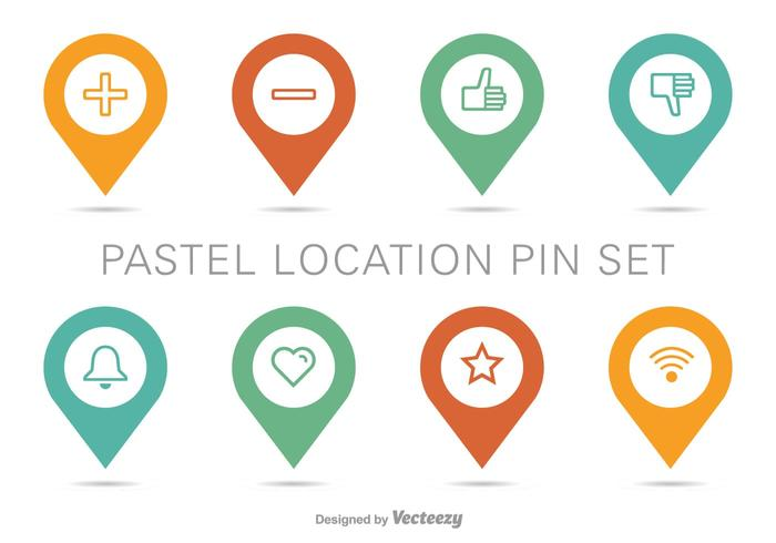 Carte de position Pin Vector Set