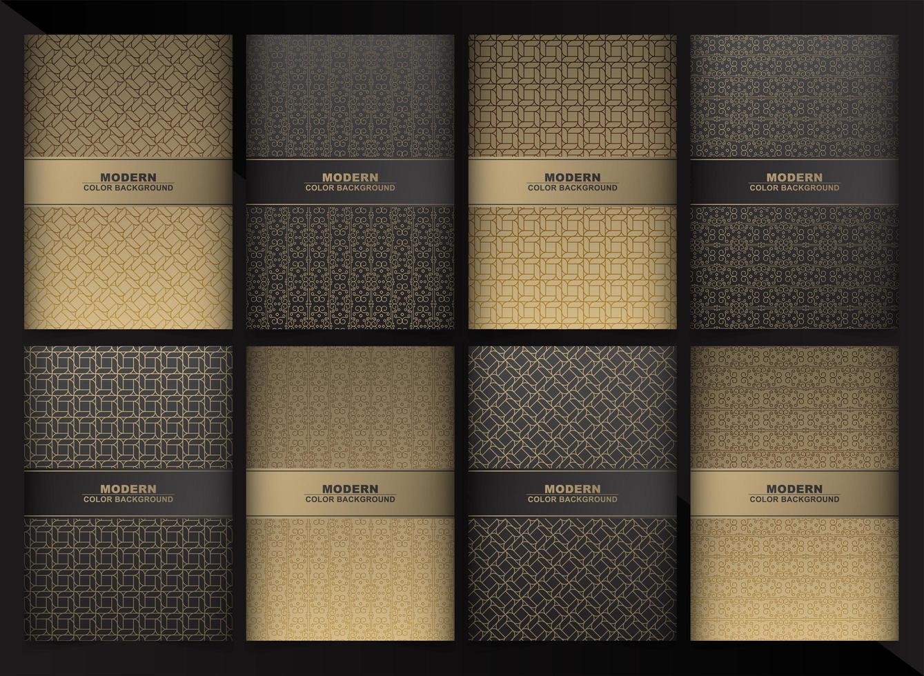 collection de couvertures minimales de couleur noire et or abstraite vecteur