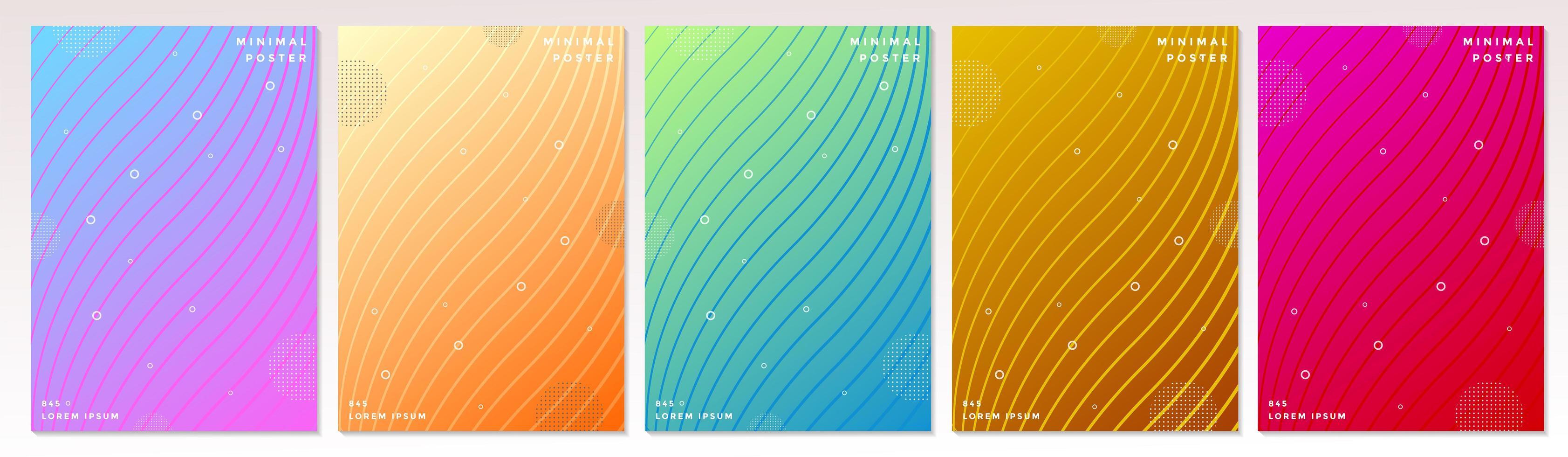 abstrait minimal coloré coloré couvertures vecteur