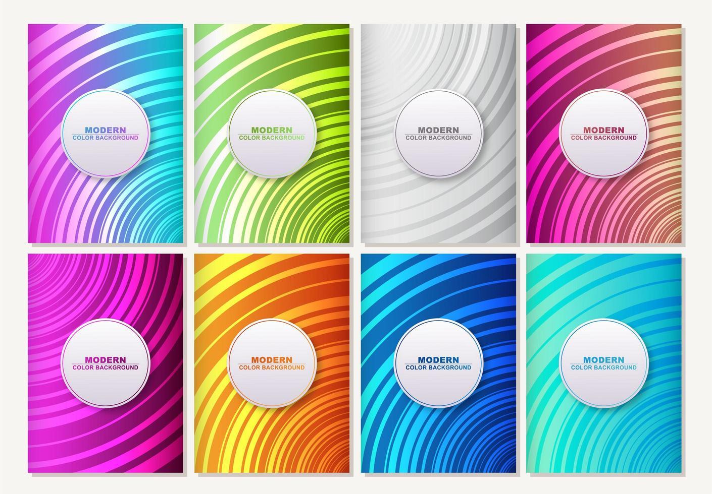 ensemble de motifs colorés abstraits rayés vecteur