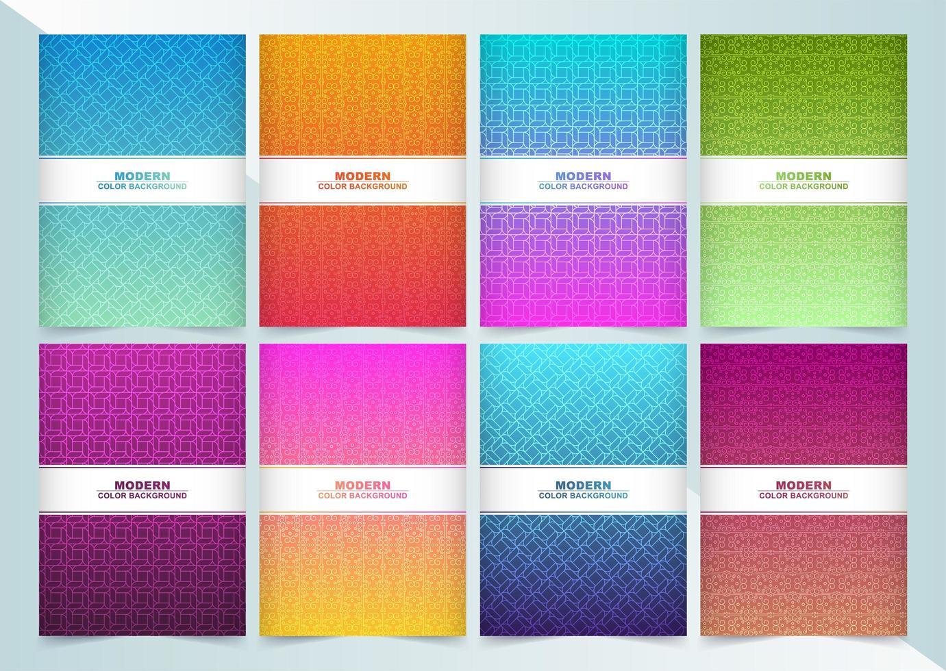 grande collection de couvertures minimales colorées abstraites vecteur