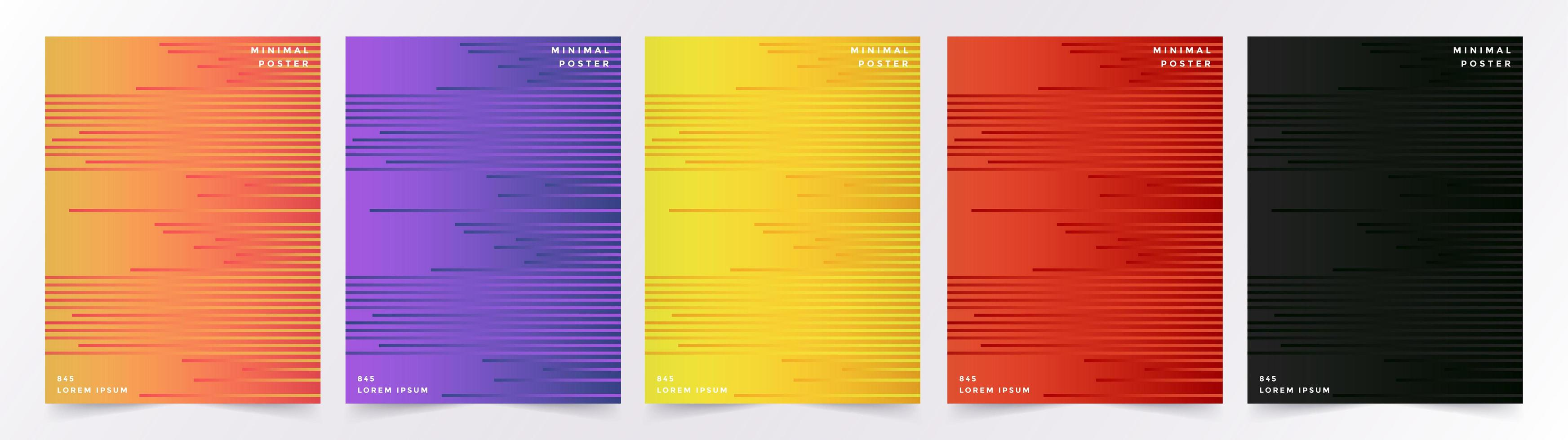 ensemble de milieux de lignes géométriques colorées vecteur