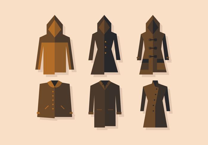 Manteau d'hiver vecteur