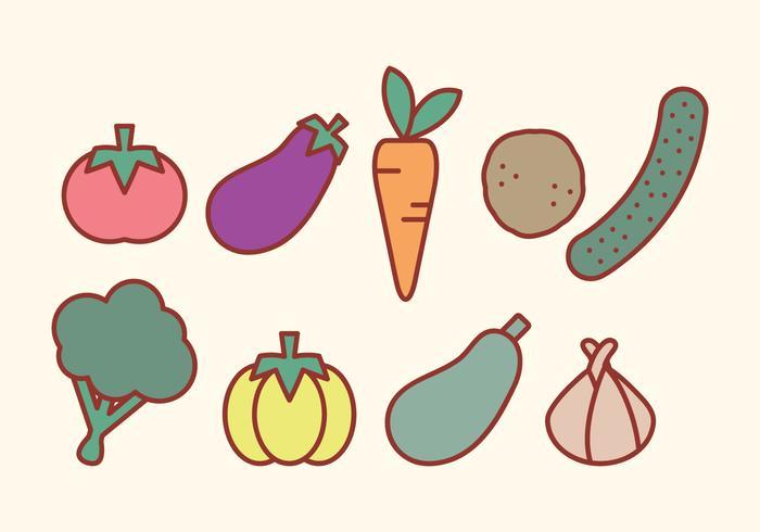 Vecteur de légumes