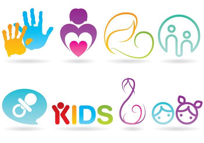 Vecteurs de logo de soins pour nourrissons vecteur