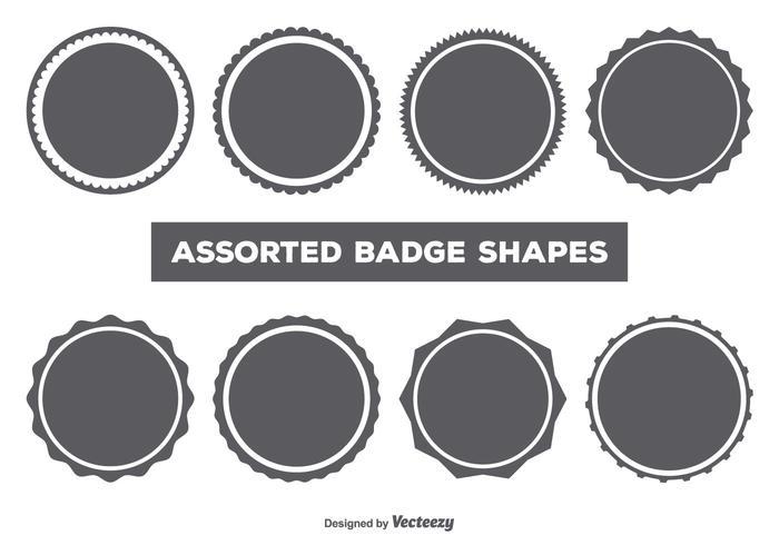 Ensemble de forme badge vectoriel