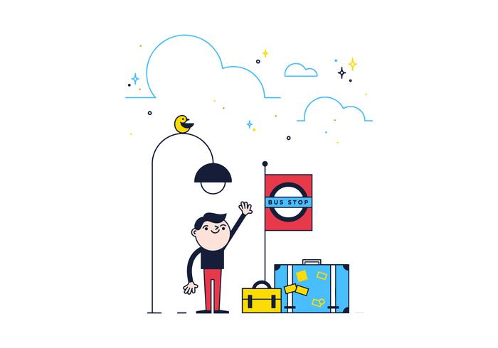 Vecteur d'arrêt de bus gratuit