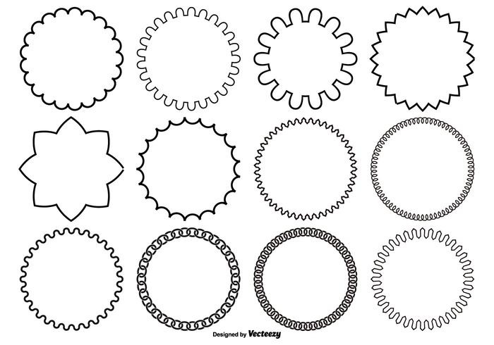 Assortiment de formes vectorielles de cercle vecteur