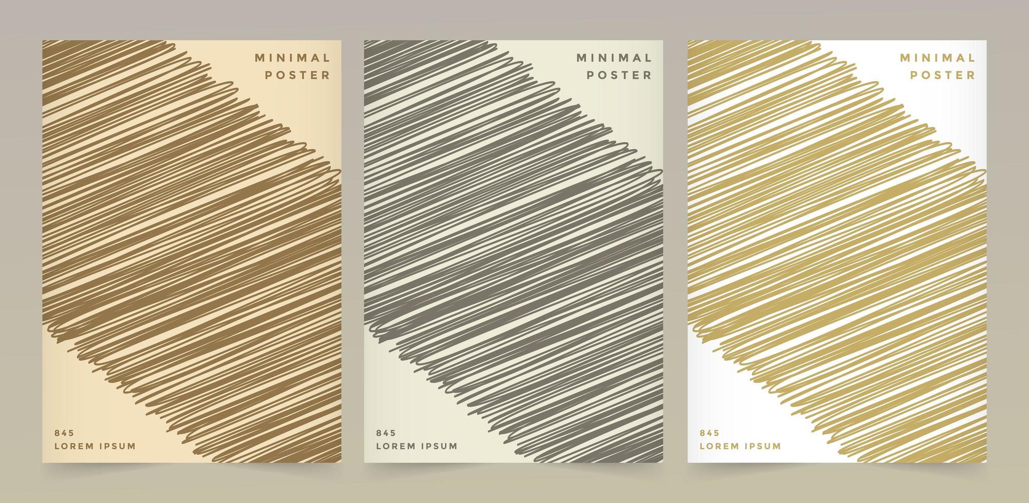 textures de motif de couleur rétro vecteur
