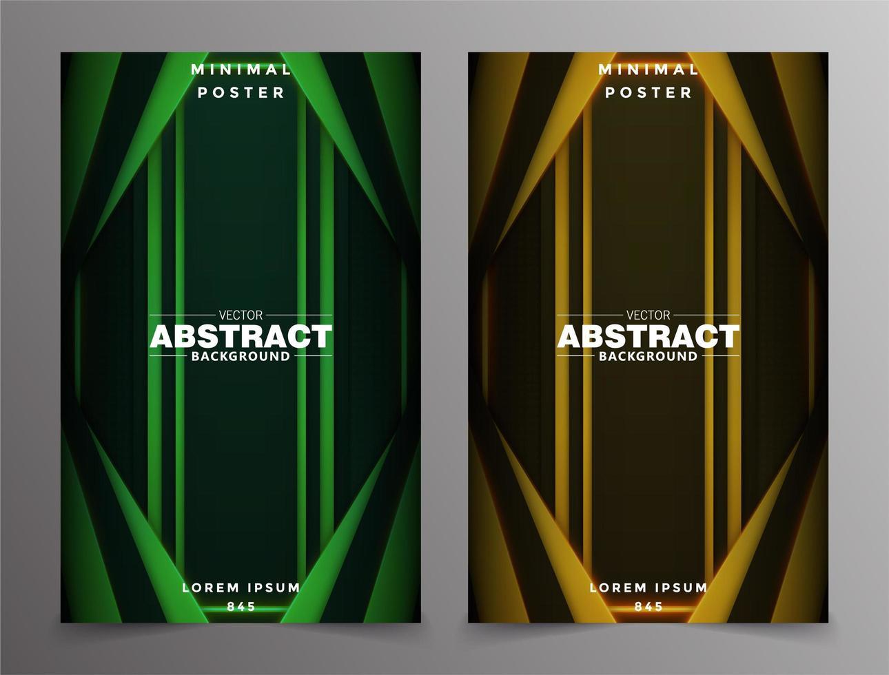 design minimaliste de la couverture gradient tech vecteur