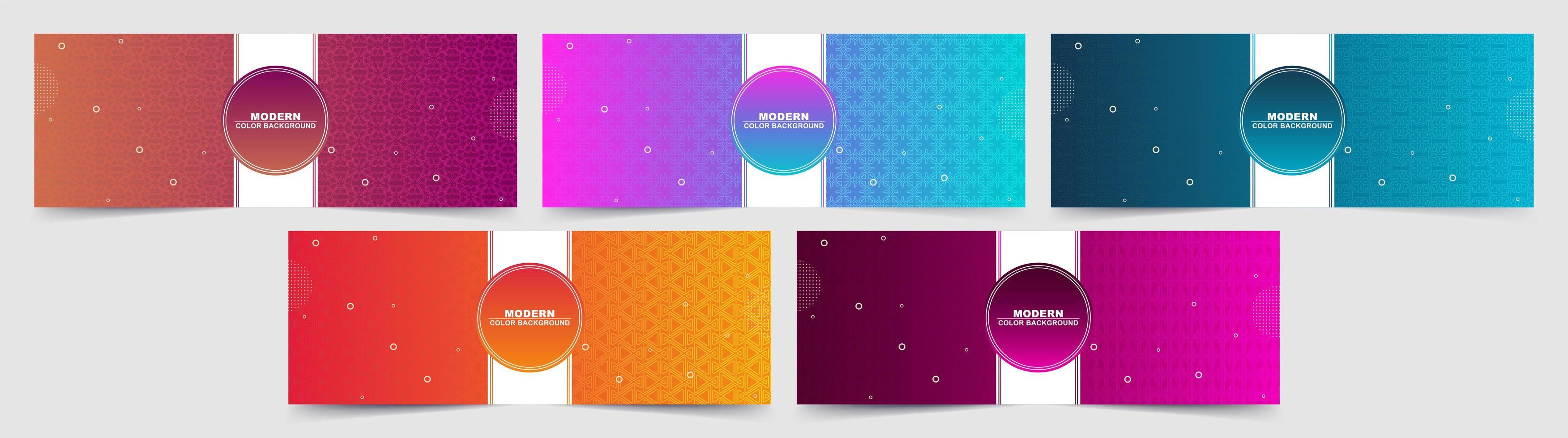 ensemble d'arrière-plans colorés dégradé abstrait coloré vecteur