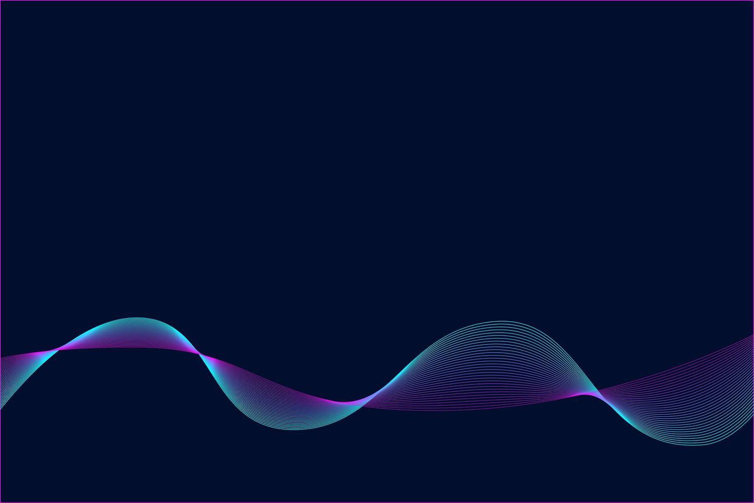 abstrait néon vague fond. vecteur