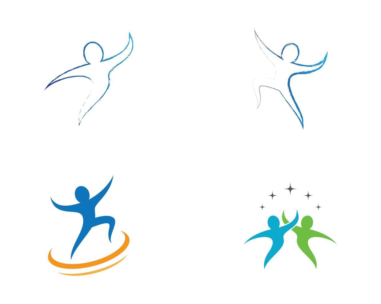 jeu d'icônes de logo sport vecteur