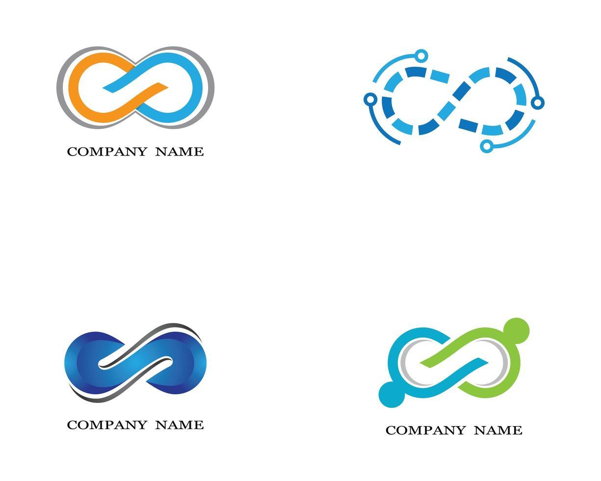 logos infini orange, bleu, vert vecteur