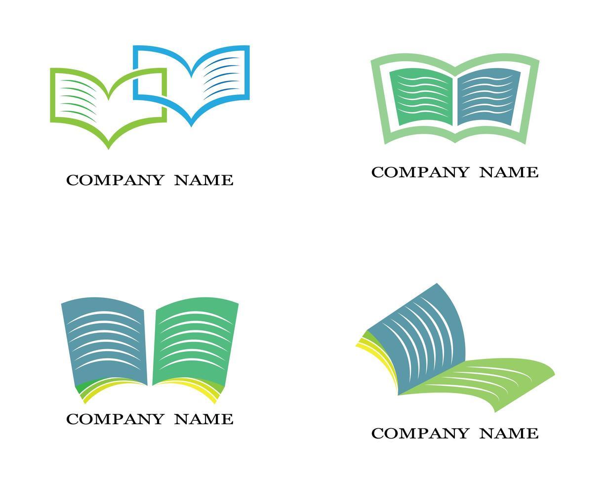 ensemble de logo de livre vecteur