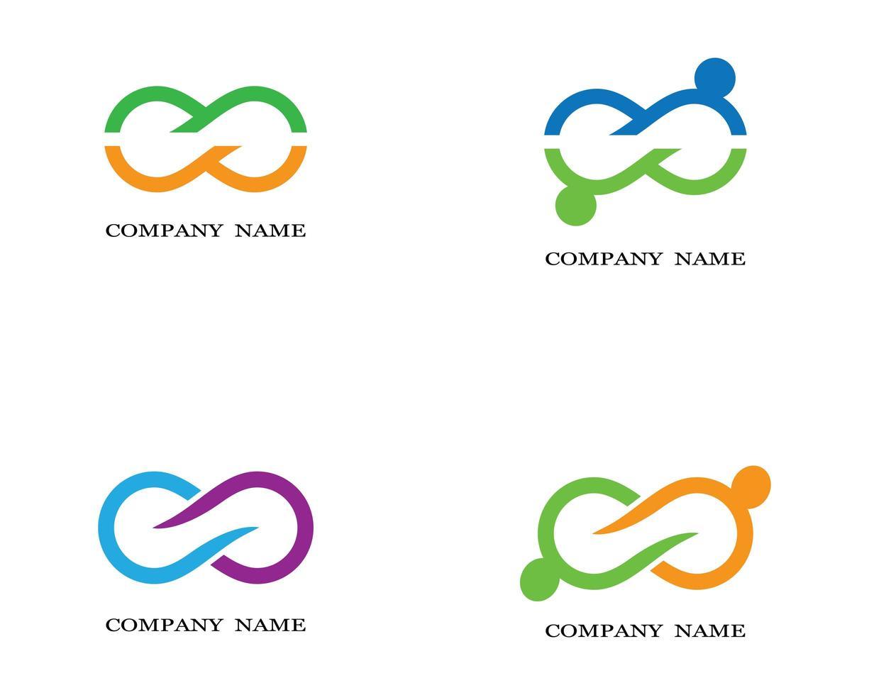 logos infini vert, orange, bleu, violet vecteur
