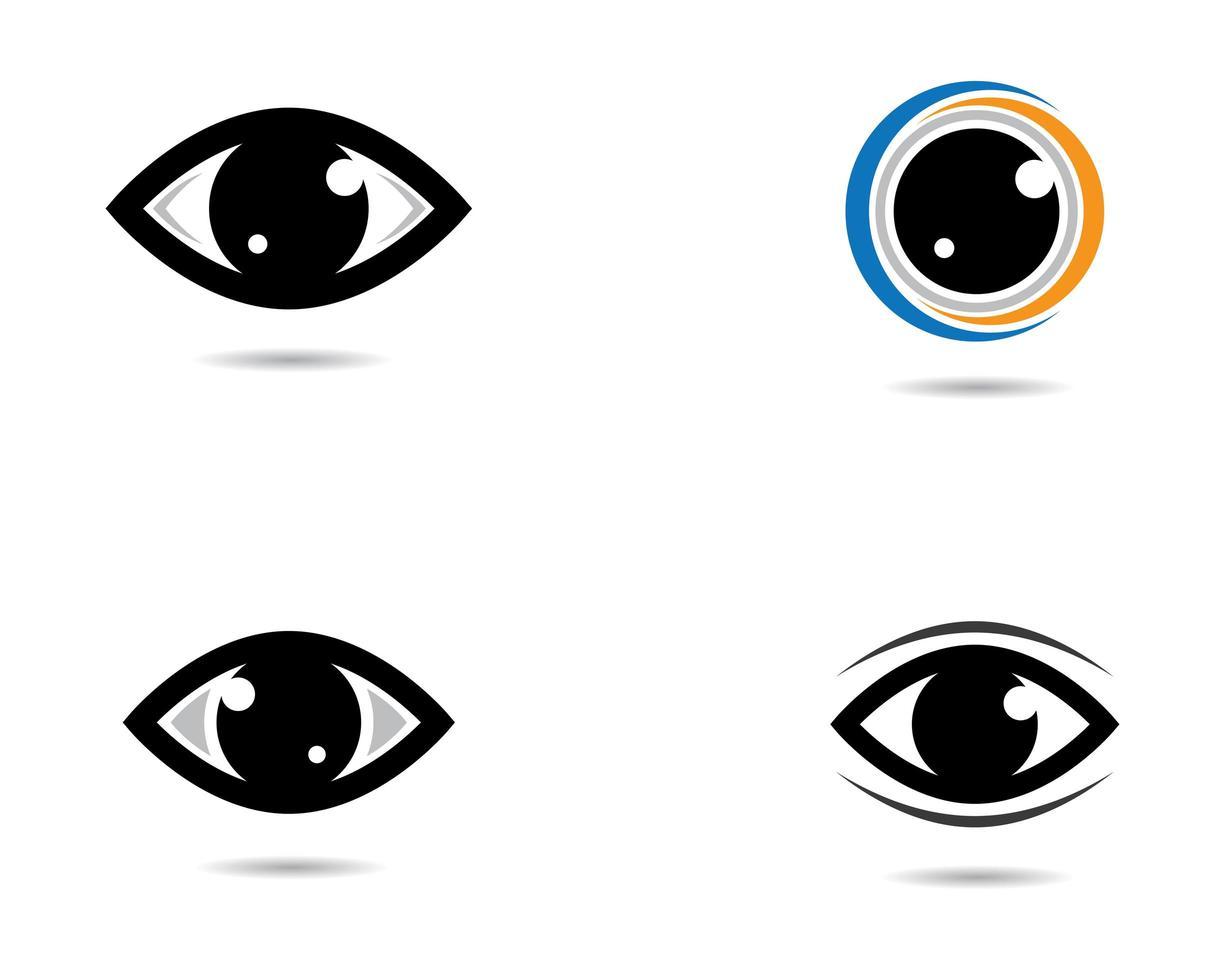 marque de symbole des yeux vecteur