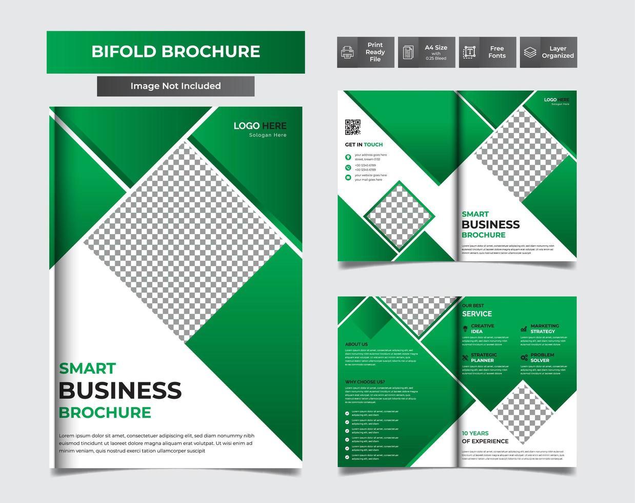 brochure a4 verte facile à éditer vecteur