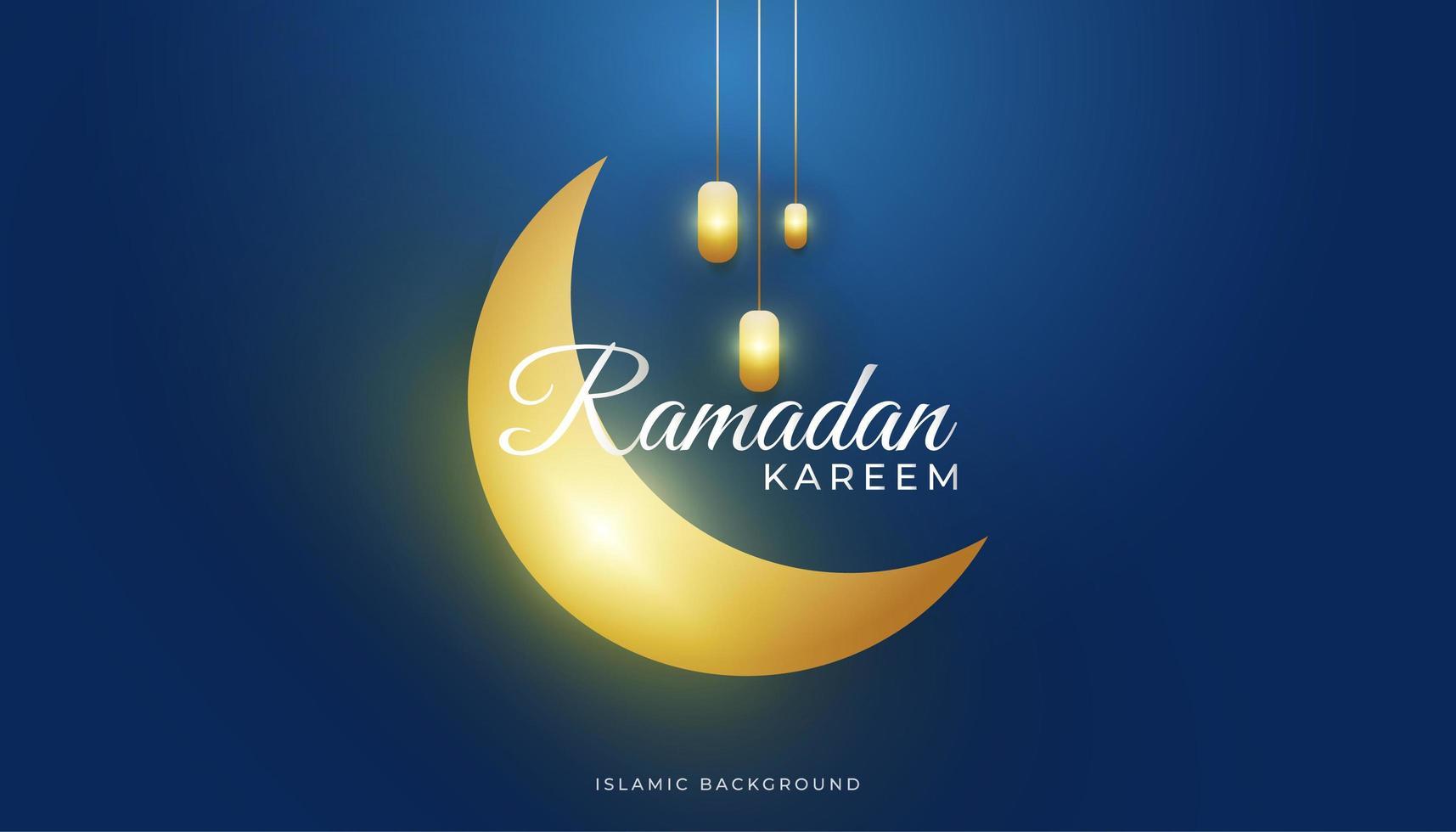 fond de ramadan de luxe vecteur