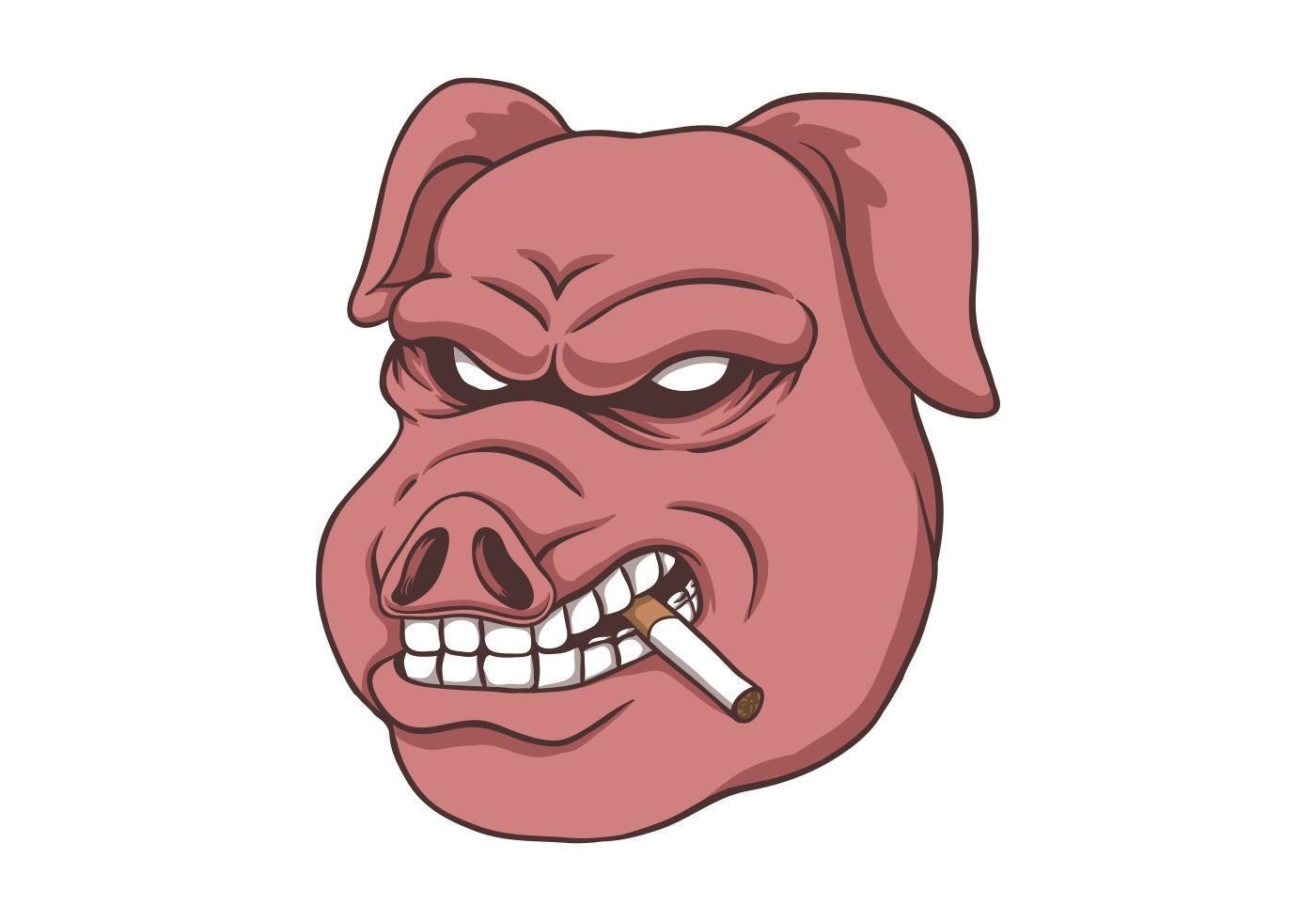 fumée de porc isolé vecteur
