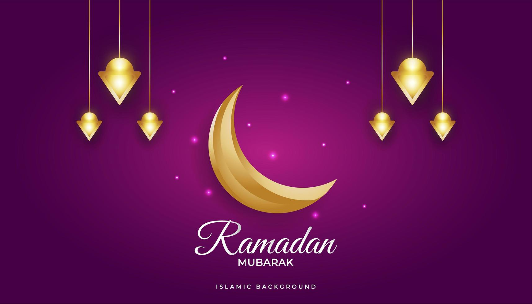 magnifique fond de ramadan vecteur