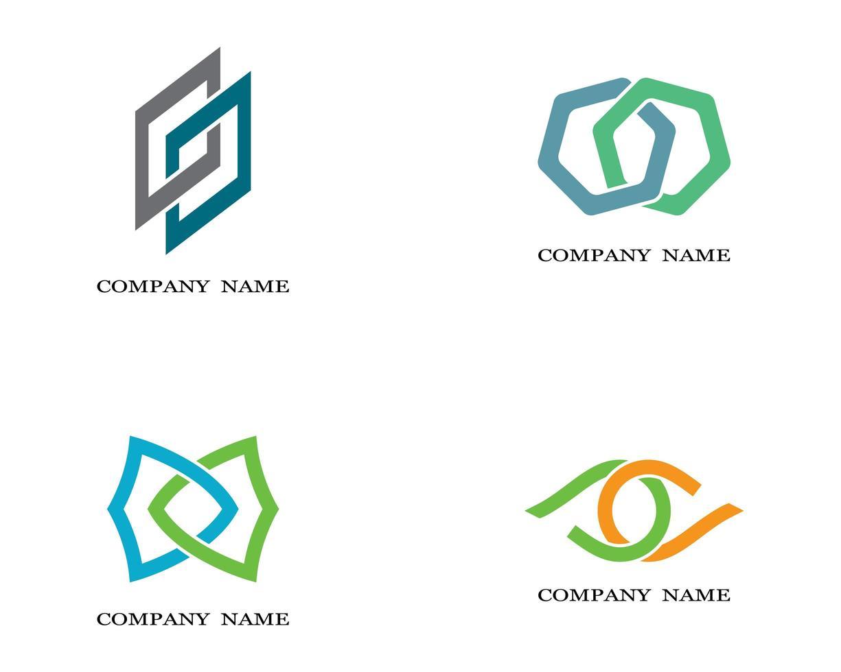 logos d'entreprise multicolores vecteur