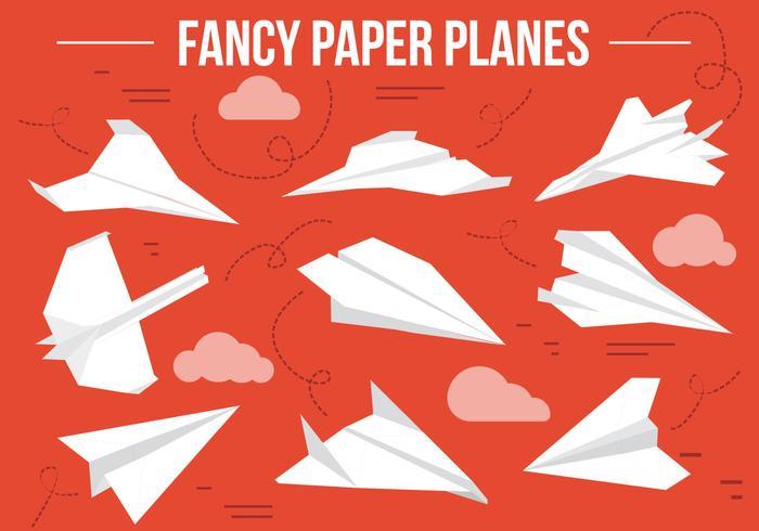 Vecteur d'avions à papier gratuit