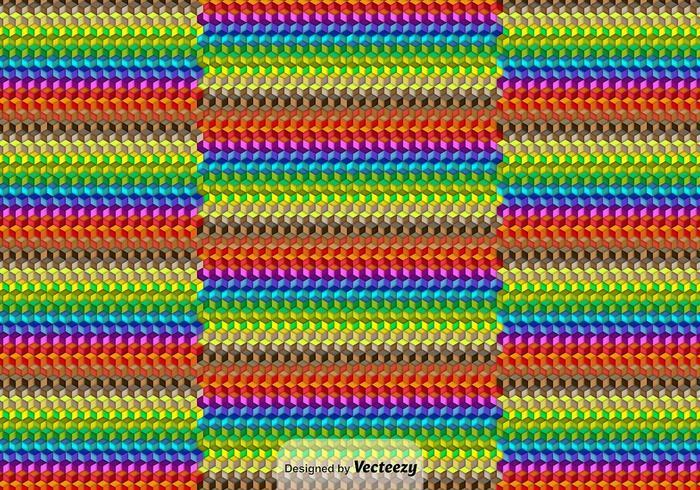 Contexte cubique coloré vecteur