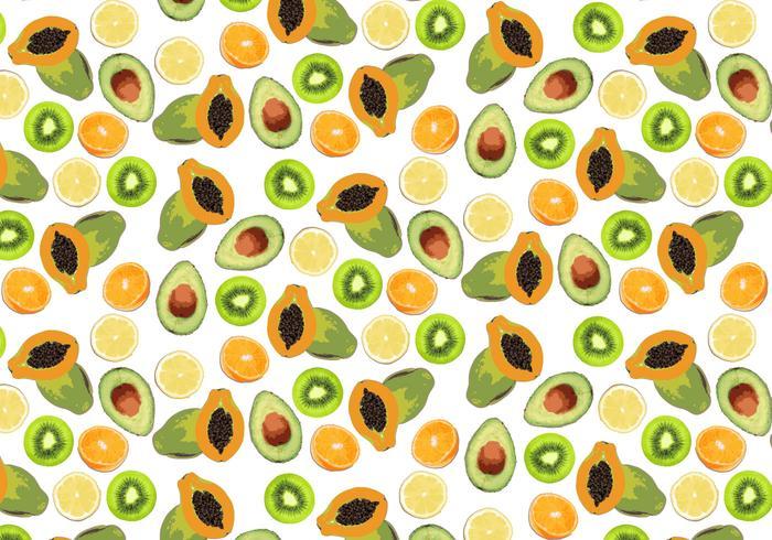 Vecteur de fond de fruits tropicaux