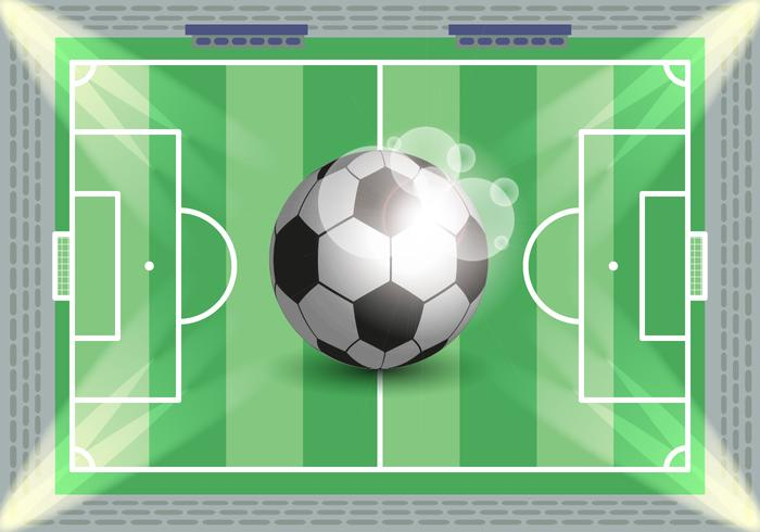 Vecteur d'illustration de soccer de football