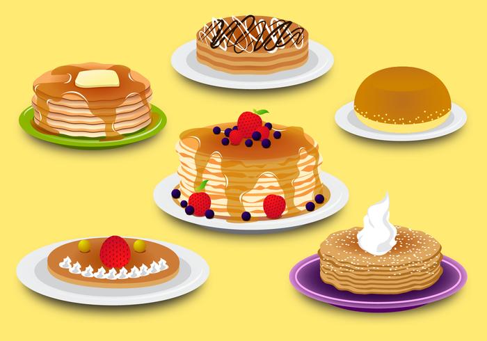 Vecteur de pancake gratuit